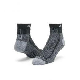 Wigwam Black and Grey Cool Lite Hiker Quarter Socks F6066-198