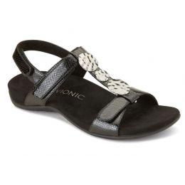 Vionic Black Lizard Farra Womens Comfort Sandals FARRA