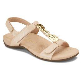 Vionic Beige Lizard Farra Womens Comfort Sandals FARRA
