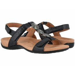 Vionic Black Woven Farra Womens Comfort Sandals