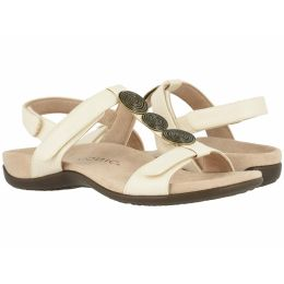 Vionic Cream Woven Farra Womens Adjustable Strap Sandals