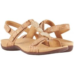 Vionic Gold Cork Farra Womens Adjustable Strap Comfort Sandals