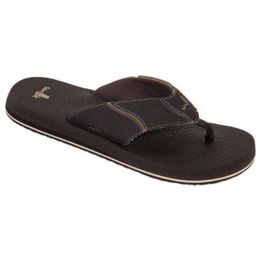 Sanuk Brown Yogi 4 Mens Flip Flop SMS10966