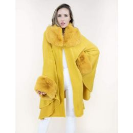 Very Moda Faux Fur Neck and Sleeve Cape FP60415