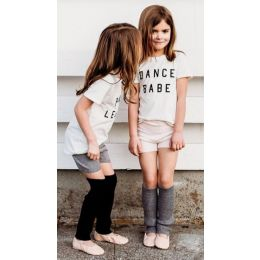 Capezio White Ford And Wyatt Dance Babe Childrens Short Sleeve T-Shirt FW4006