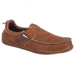 Georgia Boot Tan Cedar Falls Men's Moc-Toe Slip On Shoes G050 **ONLINE ONLY