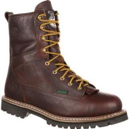 Georgia Boot Chocolate Waterproof Lace-To-Toe Men's Work Boot G101 **ONLINE ONLY