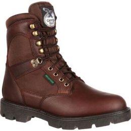 Georgia Boot Brown Homeland Steel Toe Waterproof Men's Work Boot G107 **ONLINE ONLY