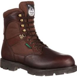 Georgia Boot Brown Homeland Waterproof 600G Insulated Men's Work Boot G109 **ONLINE ONLY