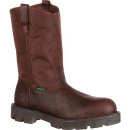 Georgia Boot Brown Homeland Steel Toe Waterproof Men's Work Boot G111 **ONLINE ONLY