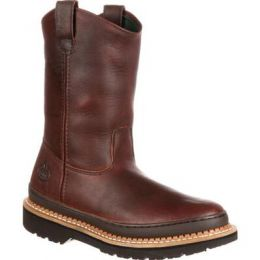 Georgia Boots Soggy Brown Gaint Mens Welling Pull-On Work Boot G4274 **ONLINE ONLY