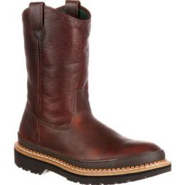 Georgia Boots Soggy Brown Giant Mens Steel Toe Pull-On Work Boots G4374 **ONLINE ONLY