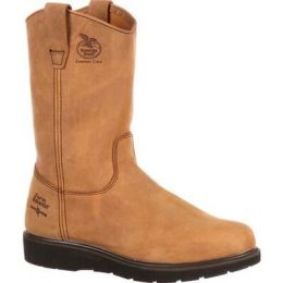 Georgia Boot Mississippi Tan Farm and Ranch Wellington Mens Work Boot G4432 **ONLINE ONLY