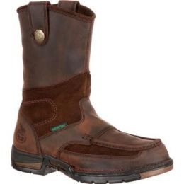 Georgia Boots  Athens Brown Steel Toe Waterproof Mens Wellington Work Boots G4603 **ONLINE ONLY