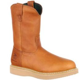 Georgia Boot Barracuda Gold Wedge Work Men's Wellington Pull On Boot G5153 **ONLINE ONLY