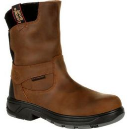 Georgia Boot Brown Flxpoint Waterproof Composite Toe Men's Work Boots G5644 **ONLINE ONLY