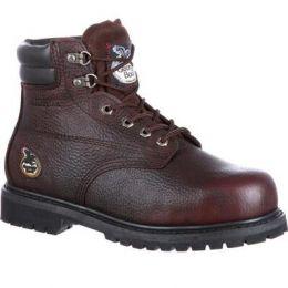 Georgia Boot Brown Oiler Steel Toe Waterproof Men's Work Boot G6174 **ONLINE ONLY