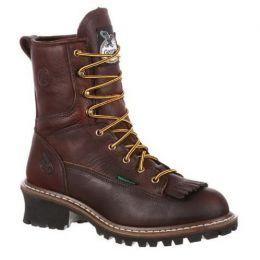 Georgia Boot Chocolate Brown Steel Toe Waterproof Mens Logger Work Boots G7313 **ONLINE ONLY