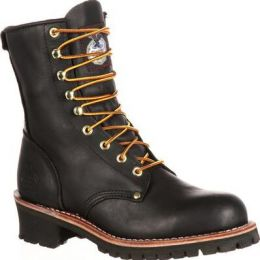 Georgia Boot Mens Black Logger Work Boots G8120 **ONLINE ONLY