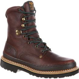 Georgia Boot Soggy Brown Giant Steel Toe Work Boot G8374 **ONLINE ONLY