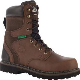 Georgia Boot Dark Brown Brookville Steel Toe Waterproof Mens Work Boots G9334 **ONLINE ONLY