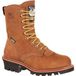 Georgia Boot Worn Saddle Steel Toe Goretex Waterproof 400G Insulated Mens Logger Boots G9382 **ONLINE ONLY