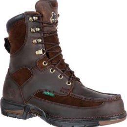 Georgia Boot Brown Athens Waterproof Mens Work Boots G9453 **ONLINE ONLY