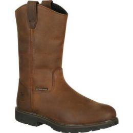 Georgia Boot Brown Suspension System Waterproof Wellington Work Boot GB00085 **ONLINE ONLY