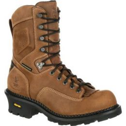 Georgia Boot Brown Comfort Core Logger Waterproof Mens Work Boots GB00096 **ONLINE ONLY