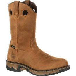 GB00103 Brown Carbo-Tec Waterproof Wellington Georgia Mens Work Boots