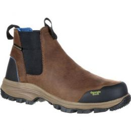 Georgia Dark Brown Blue Collar Chelsea Waterproof Mens Work Romeo Boots GB00106 **ONLINE ONLY