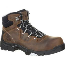 Georgia Boot Brown Amplitude Composite Toe Waterproof Mens Work Boots GB00216 **ONLINE ONLY