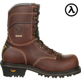 Rocky Brand Georgia 9 Inch Lt Logger Waterproof Mens Work Boots GB00235