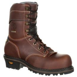 Georgia Boot AMP LT Logger Composite Toe Waterproof Mens Work Boot GB00236 **ONLINE ONLY