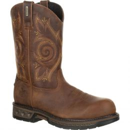Georgia Boot Brown Carbo-Tec Mens Composite Toe Waterproof Work Boots GB00239 **ONLINE ONLY