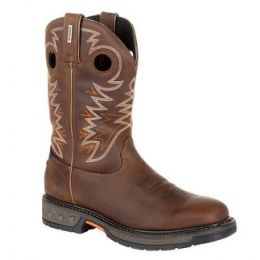 Georgia Boot Men's Medium Brown Carbo-Tec LT Pull-On Work Boot GB00269