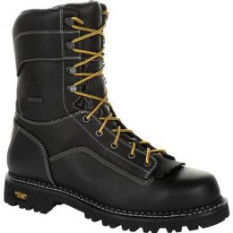 Georgia Boot Black AMP Lt Logger Low Heel Waterproof Mens Work Boots GB00271 **ONLINE ONLY