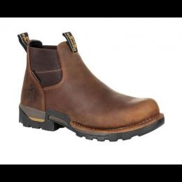 Georgia Boot Brown Eagle One Chelsea Steel Toe Waterproof Boots GB00337