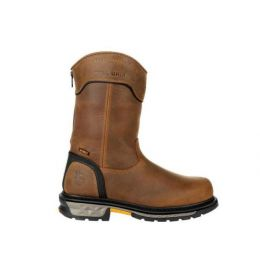 Georgia Boot Black with Brown Carbo-Tec LTX Waterproof Pull On Boot GB00393