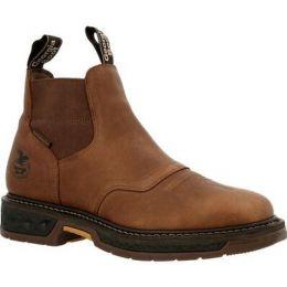 Georgia Boot Brown Carbo-Tec Lt Waterproof Chelsea Mens Work Boots GB00434