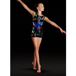 Leo by Bloch Multi Fireworks Foil Girls Tank Unitard
