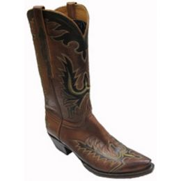 Burnished Ranch 5 Toe 3 Heel Lucchese Classics Mens Cowboy Boots