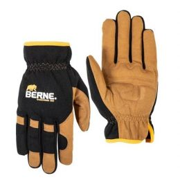 Berne Workwear Men's Brown Duck Easy-Fit Work Glove GLV64