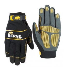 Berne Black Hex-Grip Performance Glove GLV66