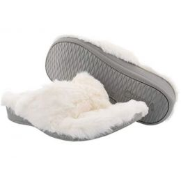 Vionic Women's Ivory Gracie Plush Slip-On Comfort Thong Slipper