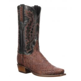 Lucchese Bark Kirkland Mens Elephant Leather Western Boots GY1065.73
