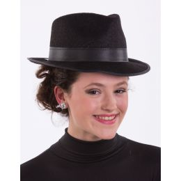 H-68B Fedora Hat (Black)