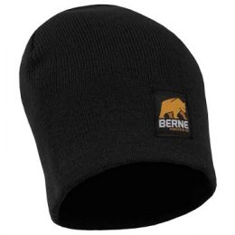 Berne Black Mens Knit Beanie H149