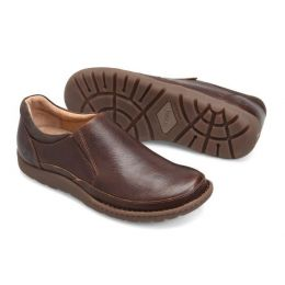 Born Nigel Dark Brown Slip On Mens Casual H48206