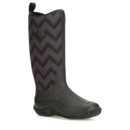 Muck Black/Black Chevron Womens Hale Waterproof Boots HAW-1WAV